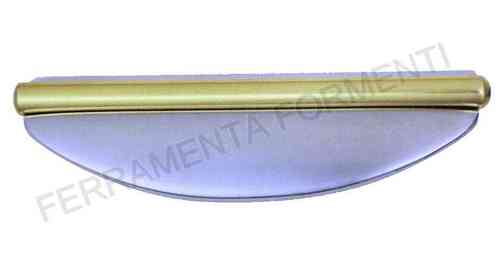 Furniture handle for cabinet OM PORRO 0416, made of brass, choose size and color