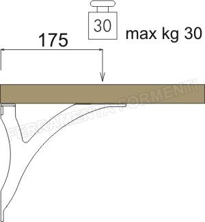 Supporti Per Mensole In Legno.Caspim Sansone 3332 Supporto Per Mensole In Legno O Vetro Scegliere Colore