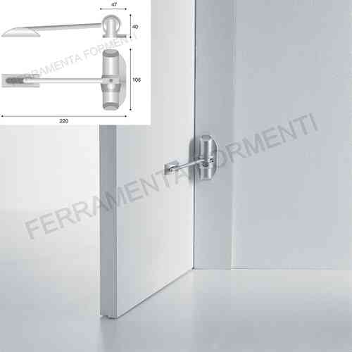 metal door closer silver painted with spring - double force