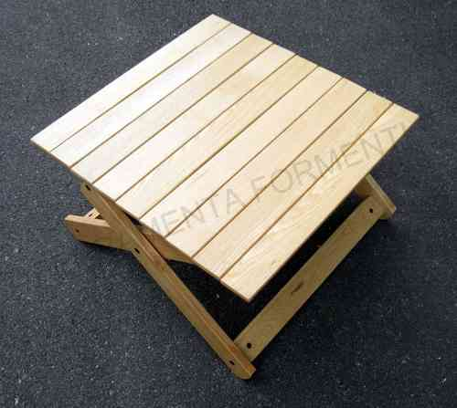Rectangular wooden garden table, natural ash - REGUITTI
