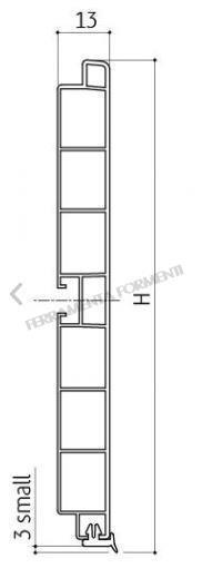 Zoccolino per mobile cucina, pvc rivestito ALLUMINIO, 4 m  (cm265+135)+accessori SCEGLIERE ALTEZZA
