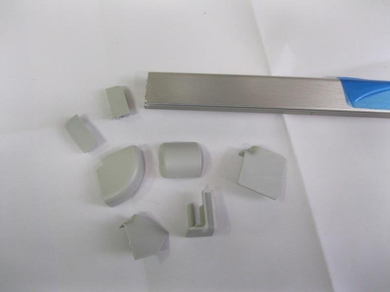 4m cm265 135 alzatina piccola per mobile da cucina mm 12x24 in pvc rivestito alluminio accessori - Alzatina cucina acciaio ...
