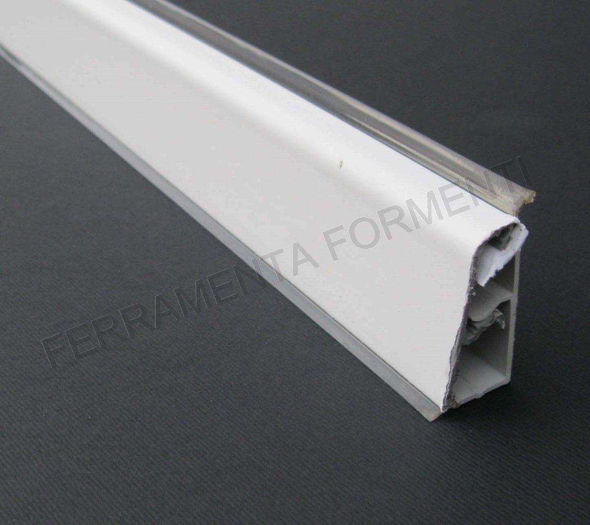 Profilo bordo alzatina per mobile cucina in pvc bianco 4 m for Stencil per mobili da cucina