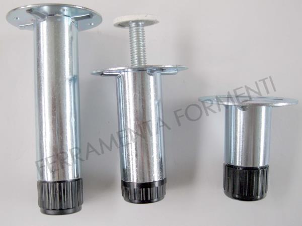 Piedino in acciaio zincato per mobile zoccolino cucina regolabile max 1cm scegliere altezza - Zoccolo per cucina ...