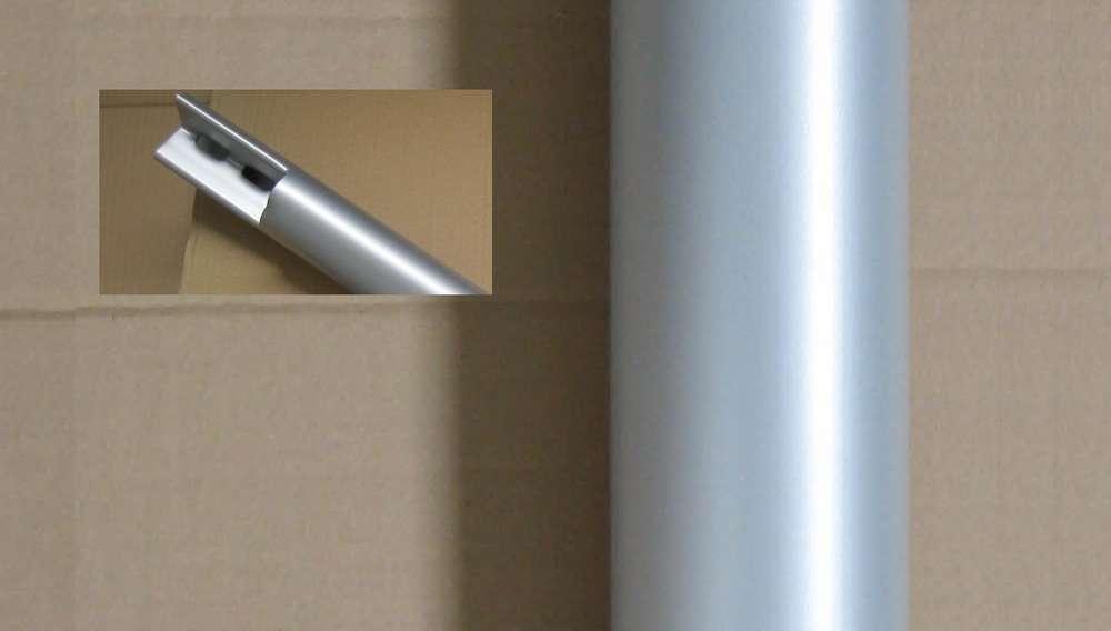 Gambe Alluminio Per Tavoli.Set 4 Gambe Spacco 12 In Acciaio Verniciato Alluminio Per Tavolo Con Fascia H 75 Cm
