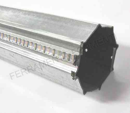 Steel roller for roller shutter with star section d.60 x 1,6 mt