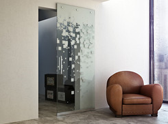 Glass sliding door systems