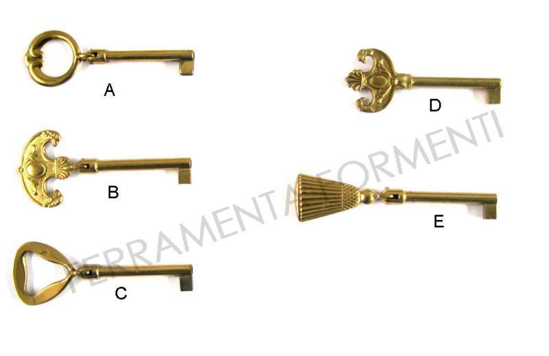 Chiave per serratura del mobile con foro lungh utile 45mm for Mobile con chiave per ufficio