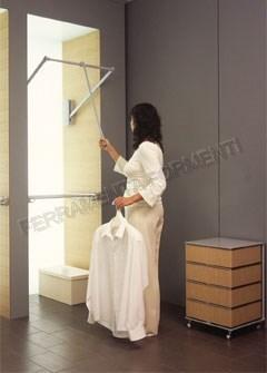 Servetto Appendiabiti.Wardrobe Lift Adjustable 77 120 Cm Color Gray Item Ff Se 08gr Closet Storage