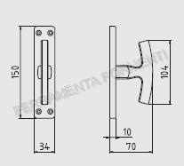 Maniglia per finestra in alluminio anodizzato bronzo ghidini universal cremonese senza meccanismo - Meccanismo cremonese finestra ...