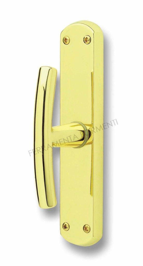 Maniglia per finestra ghidini milena materiale ottone color oro lucido senza meccanismo - Meccanismo cremonese finestra ...