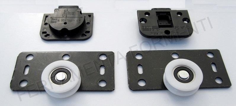 Accessori Per Ante Scorrevoli Armadio.Binari Ed Accessori Ante Scorrevoli Max 30 Kg Colore Alluminio