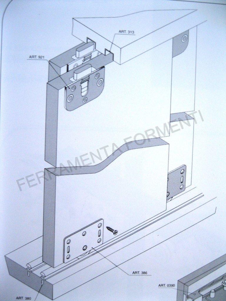 Kit Binari Ante Scorrevoli.Binari Ed Accessori Ante Scorrevoli Max 30 Kg Colore Alluminio