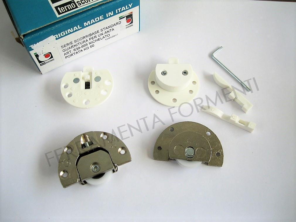 Guarnitura Per Ante Scorrevoli.Binari Ed Accessori Ante Scorrevoli Max 30 Kg Colore Alluminio