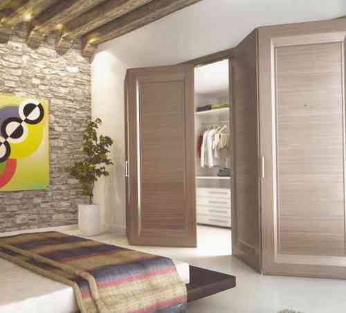 Sliding system for folding hinged doors, without lower track - Terno Scorrevoli