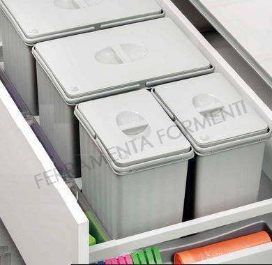 Pattumiere raccolta differenziata per cassetto - Formenti Store