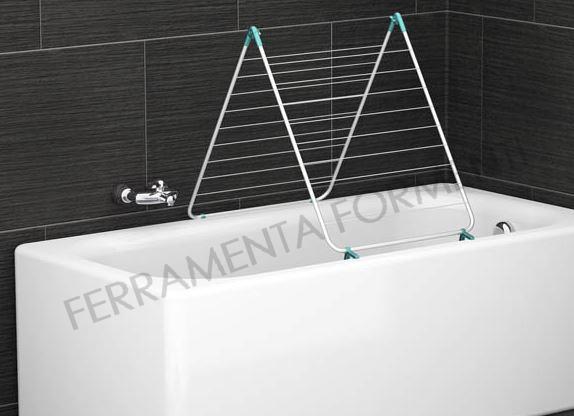 Stendibiancheria per vasca da bagno new scal 9 metri di filo - Stendibiancheria da bagno ...