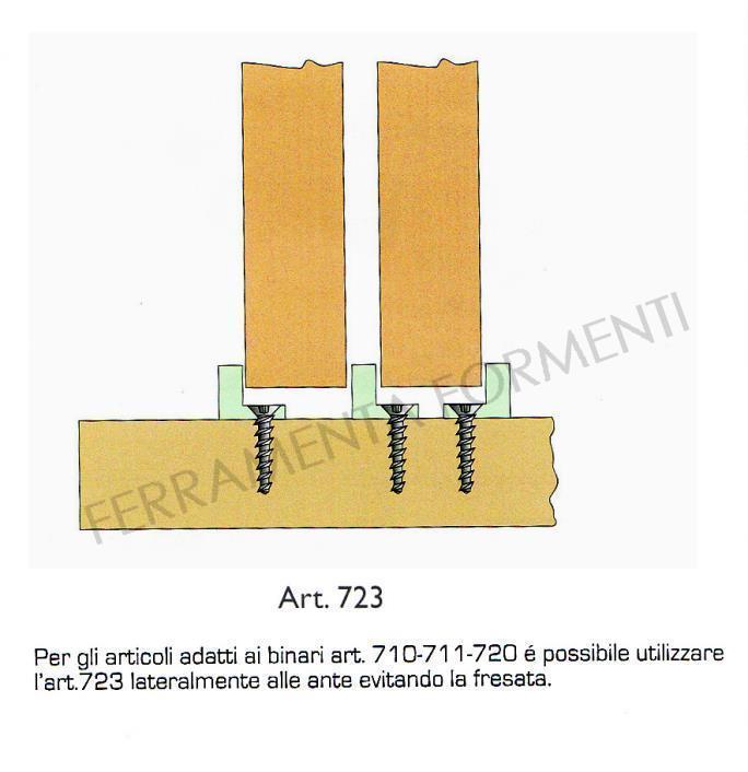 710-746/A sistema scorrevole per 3 ante in legno sospese ...