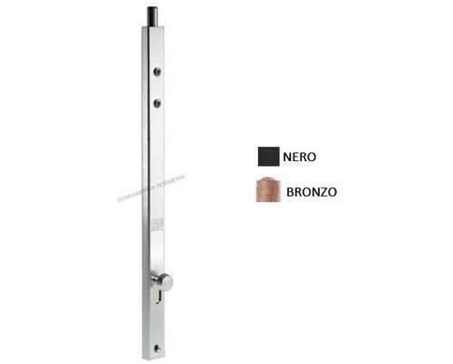 AGB D00338 - vertical bolt for door or window, F18, choose length and color