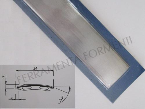 floor adhesive profile straight line 34mm wide, 83 cm long, brushed stainless color