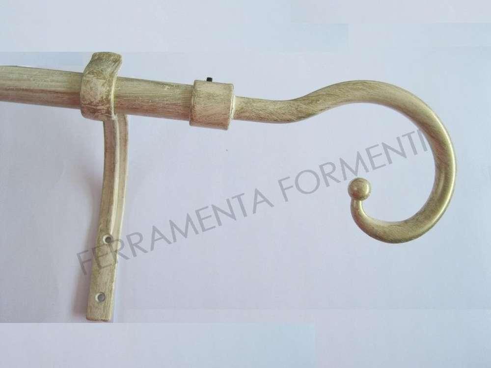 Bastoni Per Tende In Legno Anticato.Bastone Per Tende In Ferro Colore Avorio Antico Finali Pastorale E