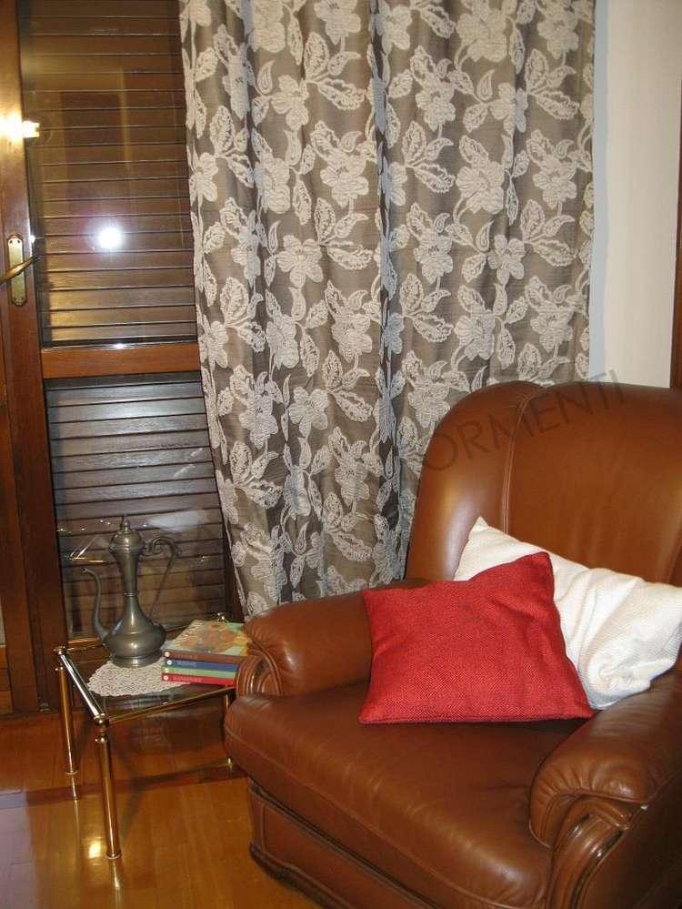 Arredare Casa Con Le Tende.Tenda Arredamento Casa Coprente Marrone Bianco 1 Telo Con Anelli