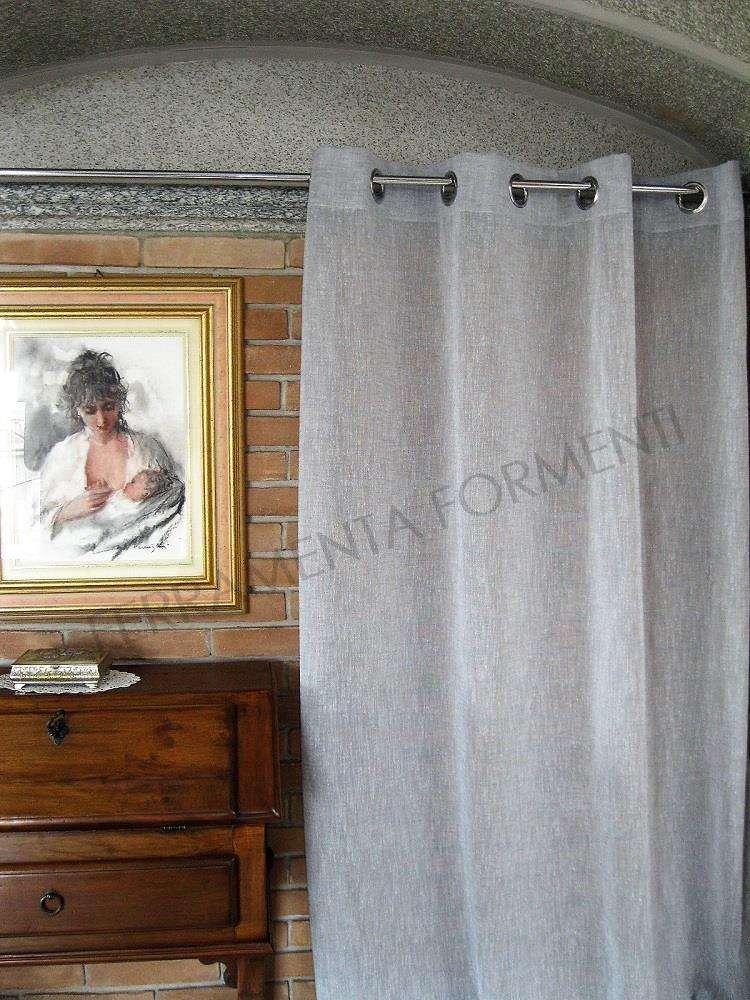 Arredare Casa Con Le Tende.Tenda Arredamento Casa Per Interni Effetto Lino Color Grigio 1 Telo