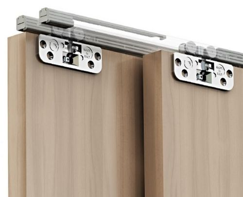 sliding door system for cabinet up to 10kg, adjustable, free composition