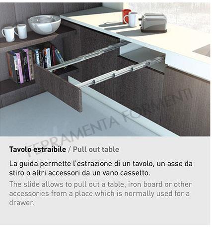 Guide Per Tavoli Consolle Allungabili.Omge 9346 35 Coppia Guide Telescopiche In Alluminio Per