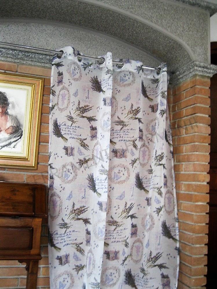 Tenda arredamento casa per interni lili 1 telo orlato for Arredamento per interni