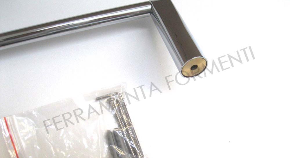 Valli cut a portasalviette per bagno in ottone cromato cm