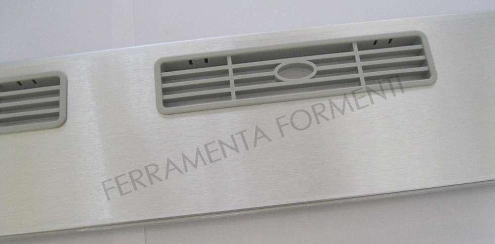 zócalo para mueble de cocina, PVC recubierto de aluminio, con rejillas de  ventilación, h.12 x cm 60