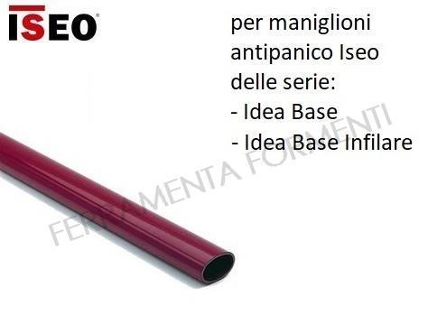 Oval bar for anti-panic device Iseo IDEA BASE, red, choose size