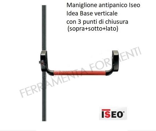 Iseo panic bar IDEA BASE complete with rods, bars, latches, 3 closing pointn