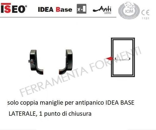 Iseo IDEA BASE panic bar reversible lateral, without accessories, spare part