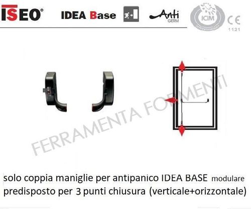 Iseo IDEA BASE panic bar reversible modular, without accessories, spare part