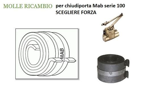 Spare spring for Mab series 100 door closers - choose strength
