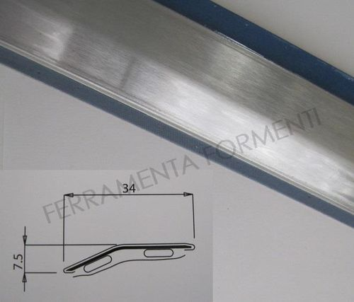floor adhesive profile straight line, 260 cm long, brushed stainless color