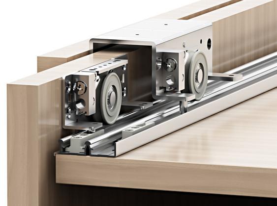 sistema scorrevole per armadio a 2 ante in legno ...